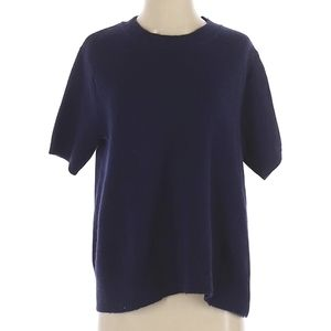 CO Navy Blue Cashmere Knit T-Shirt/Sweater